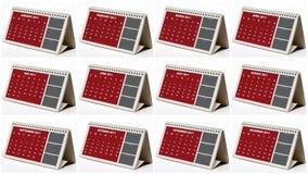Geïllustreerde kalenders Stock Foto's