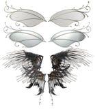 Geïllustreerde reeks vleugels Stock Foto