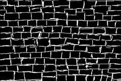 Geïllustreerde witte muur op Zwarte achtergrond Stock Afbeelding