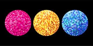 Geïllustreerdec discoballen Stock Afbeelding