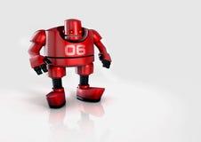 Geïllustreerdee voetbalrobot Stock Afbeeldingen