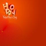 Geïllustreerden de Dag van de gelukkige Valentijnskaart typt IV Royalty-vrije Stock Afbeelding