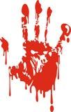 Bloedige hand vector illustratie