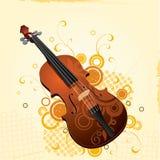 Geïllustreerder viool met ontwerp Stock Illustratie