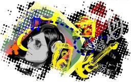 Geïllustreerdet muziek Stock Afbeeldingen