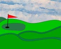 Geïllustreerdi golfgreen Stock Afbeeldingen