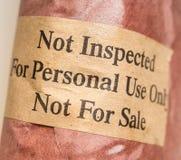 Geïnspecteerdg niet vlees Royalty-vrije Stock Foto's