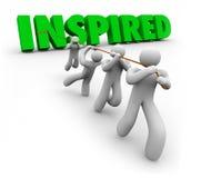 Geïnspireerd Gemotiveerd Team Working Together Following Leader vector illustratie