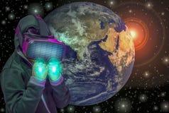 Geïnspireerd om te vernieuwen en te leren om nieuwe technologieën, Elementen van dit die beeld tot stand te brengen door NASA wor vector illustratie