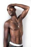 Geïnspireerdes Jonge Afrikaanse Amerikaanse Mens stock fotografie