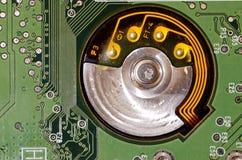 Geïntegreerde schakeling in elektronika wordt gebruikt die royalty-vrije stock foto's