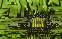 Geïntegreerdeo micro- spaander stock illustratie