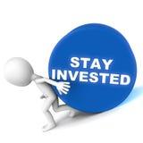Geïnvesteerd verblijf Stock Foto