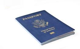 Geïsoleerd Amerikaans paspoort stock afbeelding