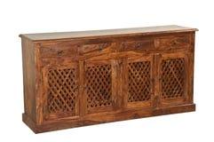 Geïsoleerd Antiek houten Meubilair voor advertentie stock fotografie