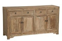 Geïsoleerd Antiek houten Meubilair voor advertentie stock foto