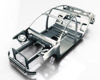 Geïsoleerd autokader 3D Illustratie Royalty-vrije Stock Foto's
