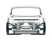 Geïsoleerd autokader 3D Illustratie Royalty-vrije Stock Foto