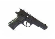 Geïsoleerd beeld van een gebruikt vals vuurwapen Stock Foto's