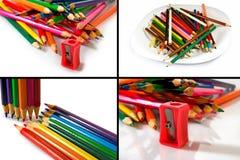 Geïsoleerd beeld van kleurrijke potloden royalty-vrije stock fotografie