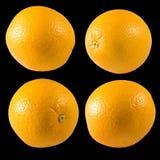 Geïsoleerd beeld van sinaasappelen royalty-vrije stock foto