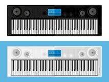 Geïsoleerd beeld van synthesizers Stock Afbeelding