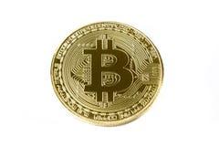 Geïsoleerd bitcoin muntstuk royalty-vrije stock afbeeldingen