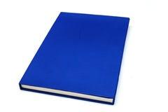Blauw notitieboekje op witte achtergrond Stock Afbeelding