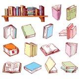 Geïsoleerd boekpictogram, illustratievector Stock Fotografie