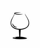 Geïsoleerd cognacglas Stock Afbeelding