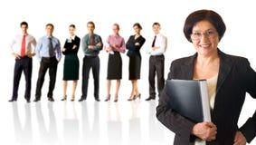 Geïsoleerd commercieel team Stock Afbeelding