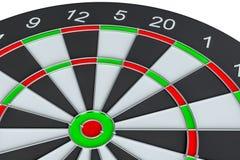 Geïsoleerd dartboard, royalty-vrije illustratie