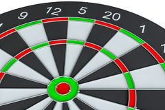 Geïsoleerd dartboard, Royalty-vrije Stock Fotografie