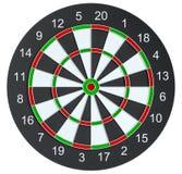 Geïsoleerd dartboard, Royalty-vrije Stock Afbeelding