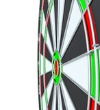 Geïsoleerd dartboard, stock illustratie