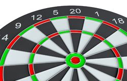 Geïsoleerd dartboard, Stock Afbeelding