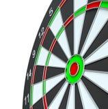 Geïsoleerd dartboard, Royalty-vrije Stock Afbeeldingen