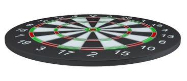 Geïsoleerd dartboard, Royalty-vrije Stock Foto's
