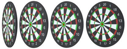 Geïsoleerd dartboard, Stock Foto's