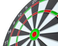 Geïsoleerd dartboard, Stock Afbeeldingen
