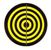 Geïsoleerd dartboard Royalty-vrije Stock Afbeeldingen
