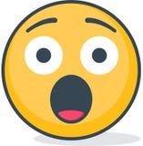 Geïsoleerd doen schrikken emoticon Geïsoleerd emoticon vector illustratie