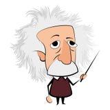 Geïsoleerd Einstein-karakter royalty-vrije illustratie