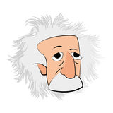 Geïsoleerd Einstein-karakter stock illustratie