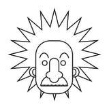 Geïsoleerd einstein ontwerp vector illustratie
