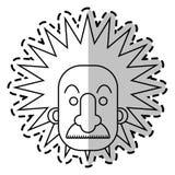 Geïsoleerd einstein ontwerp stock illustratie