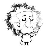 Geïsoleerd Einstein-overzicht royalty-vrije illustratie