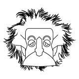 Geïsoleerd Einstein-overzicht vector illustratie