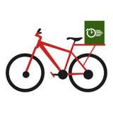Geïsoleerd fietspictogram Stock Foto's