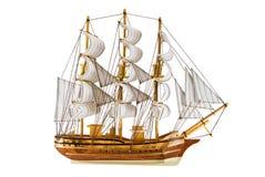 Geïsoleerd fregat stock afbeelding